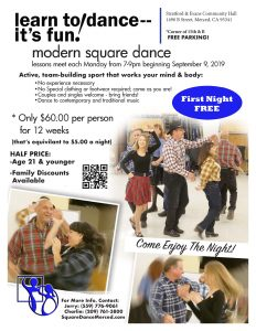 New Square Dance Class Flyer 2019